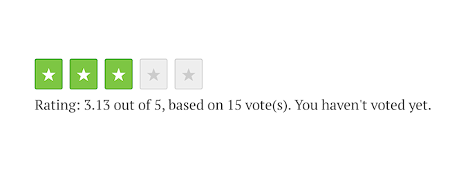 Rating: 3.13 out of 15, based on 15 vote(s). You haven't voted yet.